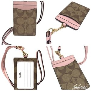 Coach Accessories - NWT Coach signature lanyard with dust bag